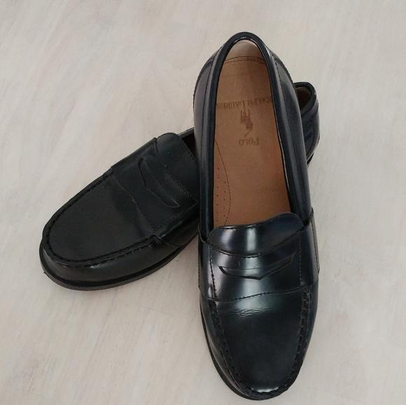 Polo Ralph Lauren Black Leather Penny